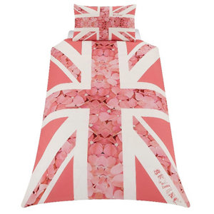 Image of Skybrands Union jack flower Pink Single Bedding set