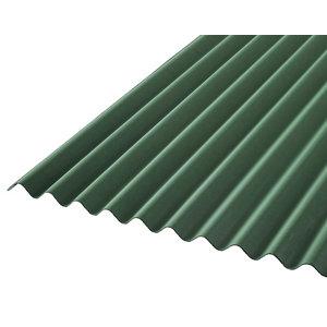 Image of Corrubit Green Bitumen Corrugated Roofing sheet (L)2m (W)930mm (T)2.2mm