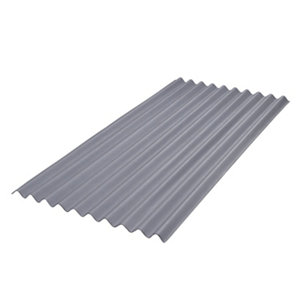Image of BTM Grey Bitumen Corrugated Roofing sheet (L)2m (W)930mm (T)2.2mm