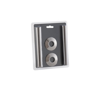 Image of Arroll Black nickel effect Radiator Pipe sleeve accessory pack (L)130mm (Dia)15mm
