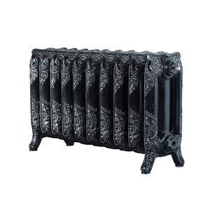 Image of Arroll Montmartre 3 Column Radiator Black & silver (W)834mm (H)470mm