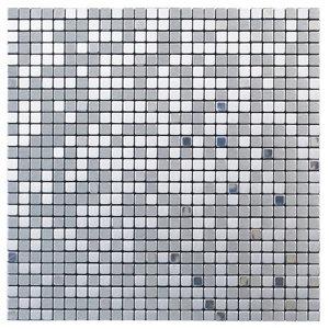 Image of Abu dhabi Brushed metal Metal Mosaic tile (L)300mm (W)300mm