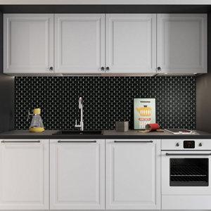 Image of Black Porcelain Mosaic tile (L)320mm (W)298mm