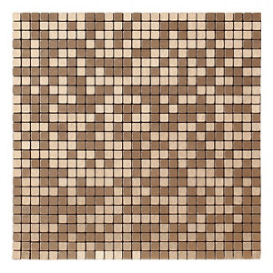 Image of Abu dhabi Brushed bronze effect Metal Mosaic tile sheets (L)290mm (W)290mm