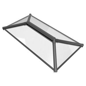 Image of Crystal Grey Aluminium & PVC Roof lantern (L)2m (W)1.5m (H)453mm