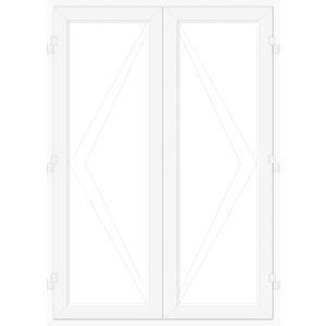 Image of Crystal 1 Lite Glazed White uPVC External French Door set (H)2090mm (W)1790mm