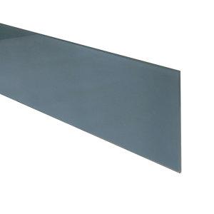 Image of 6mm Splashwall Flint Bevelled Glass Upstand (L)0.6m