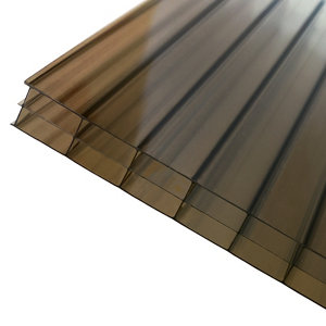 Image of Axiome Bronze effect Polycarbonate Multiwall Roofing sheet (L)3m (W)690mm (T)16mm