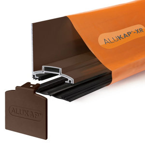 Image of Alukap Brown Aluminium Axiome sheet glazing bar (L)4.8m (W)60mm (T)70mm
