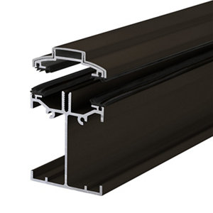 Image of Alukap SS Brown Aluminium Low profile Glazing bar (L)3m (W)60mm (T)90mm