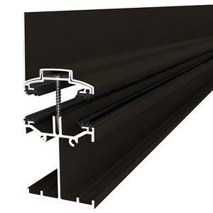 Image of Alukap SS Brown Aluminium Low profile Glazing bar (L)3m (W)60mm (T)140mm
