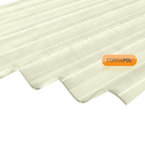 Image of Corrapol Clear Polyester (PES) Corrugated Roofing sheet (L)2m (W)950mm (T)0.7mm