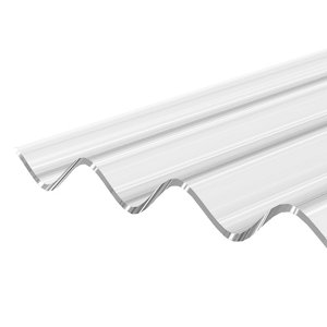 Image of Corrapol Clear Polycarbonate Corrugated Roofing sheet (L)2.5m (W)950mm (T)1mm