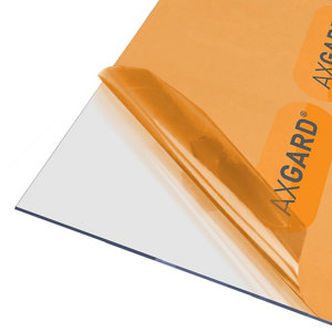 Image of AXGARD Clear Polycarbonate Flat Glazing sheet (L)1.02m (W)0.62m (T)2mm