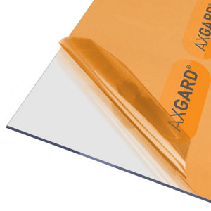 Image of AXGARD Clear Polycarbonate Flat Glazing sheet (L)2.5m (W)0.62m (T)3mm
