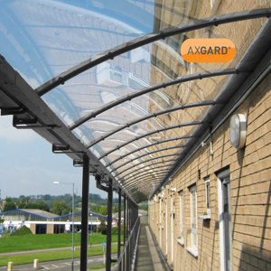 Image of AXGARD Clear Polycarbonate Flat Glazing sheet (L)1.24m (W)0.62m (T)4mm