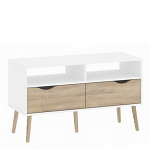 Image of White & Oak Effect TV stand 1.7kg