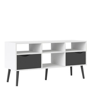Image of White & Black TV stand 2.6kg