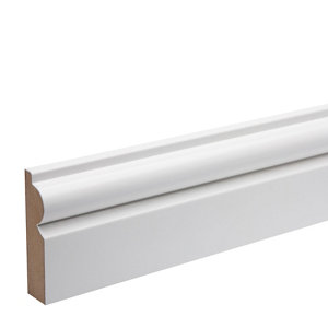 Image of White MDF Torus Architrave (L)2.18m (W)69mm (T)18mm