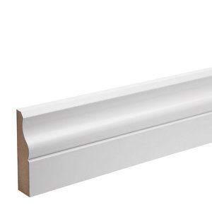 Image of White MDF Ogee Architrave (L)2.18m (W)69mm (T)18mm