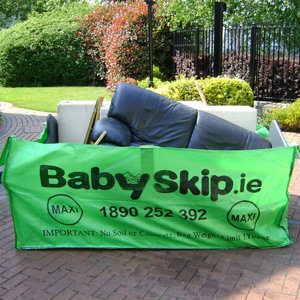 Image of Babyskip Green Rubble bag