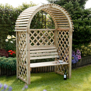 Image of Blooma Chiltern Round Wood Arbour