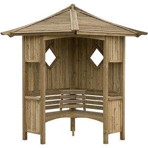 Image of Blooma Elegant Softwood Corner arbour