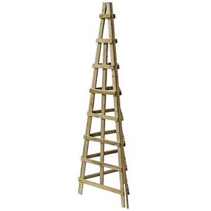 Image of Blooma 3 sided Obelisk support trellis 1.89m