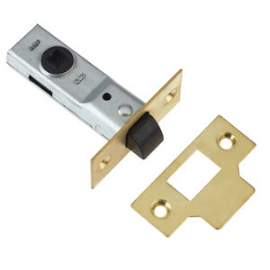 Image of Diall Brass Tubular Mortice latch (L)170mm
