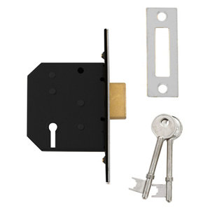 Image of Diall 64mm Polished Chrome effect Metal 3 lever Deadlock