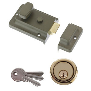 Image of Diall Green Night latch (H)62mm (W)90mm