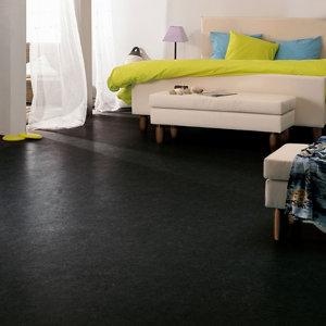 Image of Colours Dizi Black Marble effect Vinyl flooring 6m²
