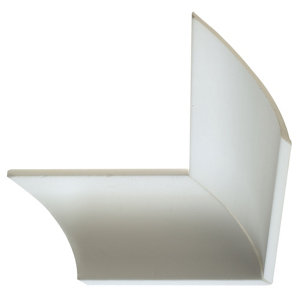 Image of Classic C-shaped Polystyrene Internal & external Coving corner (L)180mm (W)70mm Pack of 2