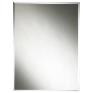 Image of Colours Clear Rectangular Frameless Mirror (H)600mm (W)450mm
