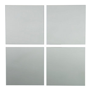 Image of Colours Clear Square Frameless Mirror (H)220mm (W)220mm