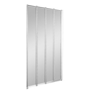 Image of Cooke & Lewis Nile Clear Straight 4 Panel Bath screen (W)840mm