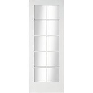 Image of 10 Lite Glazed Primed White LH & RH Internal Door (H)1981mm (W)838mm