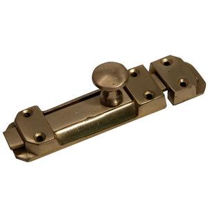 Image of Blooma Brass effect Metal Flat Door bolt (L)102mm