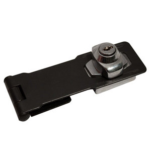 Image of Blooma Black Steel Hasp & staple (L)114mm (W)42mm