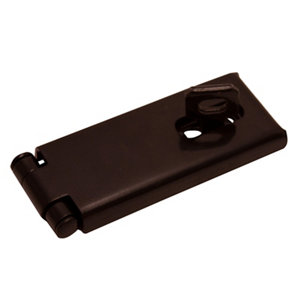 Image of Blooma Black Steel Hasp & staple (L)114mm (W)46mm