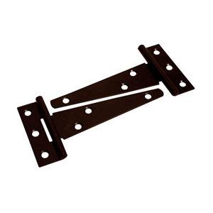 Image of Blooma Black Steel Tee hinge (L)102mm Pack of 2