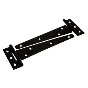 Image of Blooma Black Steel Tee hinge (L)152mm Pack of 2