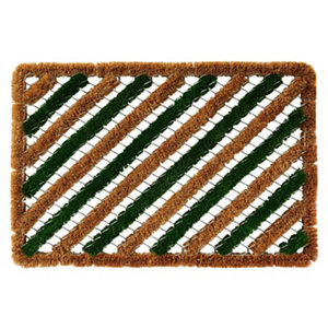 Image of Colours Green & natural Coir Door mat (L)0.6m (W)0.4m