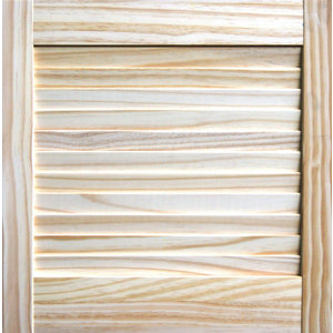 Image of Pine LH & RH Internal Louvre Door (H)457mm (W)457mm