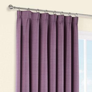 Shelley Blueberry Semi plain Lined Pencil pleat Curtains (W)228cm (L)228cm  Pair