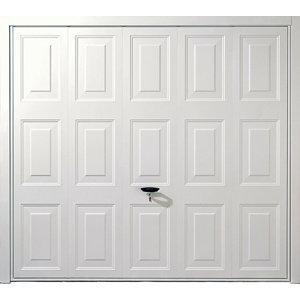 Image of Alaska Framed White Retractable Garage door (H)1981mm (W)2134mm