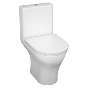 Image of Cooke & Lewis Angelica Modern Close-coupled Toilet with Soft close seat