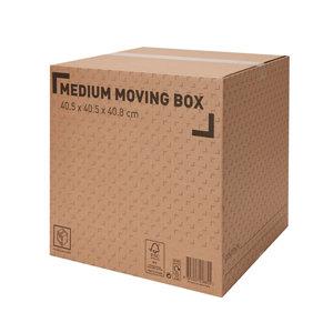 Image of Cardboard Moving box (H)408mm (L)405mm (W)405mm