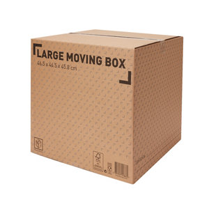 Image of Cardboard Moving box (H)450mm (L)460mm (W)460mm