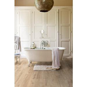 Image of Aquanto Beige Oak effect Laminate Flooring Sample